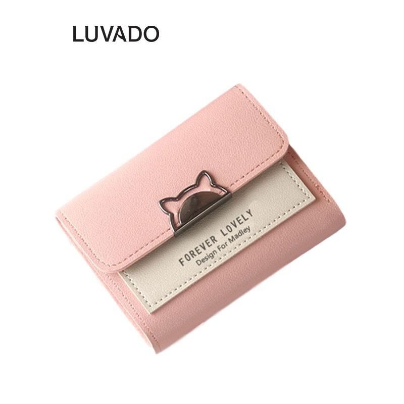 Ví nữ đẹp cầm tay mini cao cấp MADLEY nhỏ gọn bỏ túi LUVADO VD337