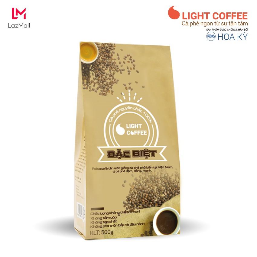 Cafe Đặc biệt Light Coffee gu đậm, đắng mạnh - Gói 500g