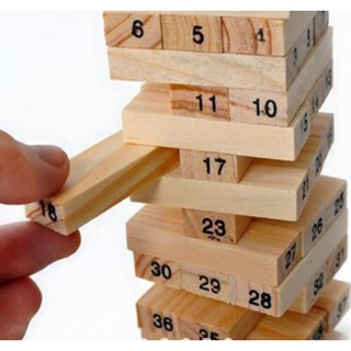 [ Có Sẵn ] Trò chơi rút gỗ 54 thanh + Tặng dụng cụ lấy ráy tai có đèn