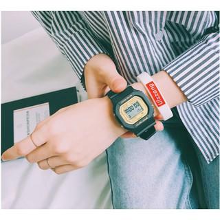 Đồng hồ nam đẹp SANOSI điện tử dây cao su mặt vuông thời trang