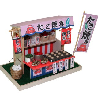 Mô Hình Nhà Gỗ Tự Lắp Ghép Phong Cách Nhật Bản - Thế Giới Tí Hon - Bạch Tuộc Quán - QA03 (TẶNG KEO 7ML)