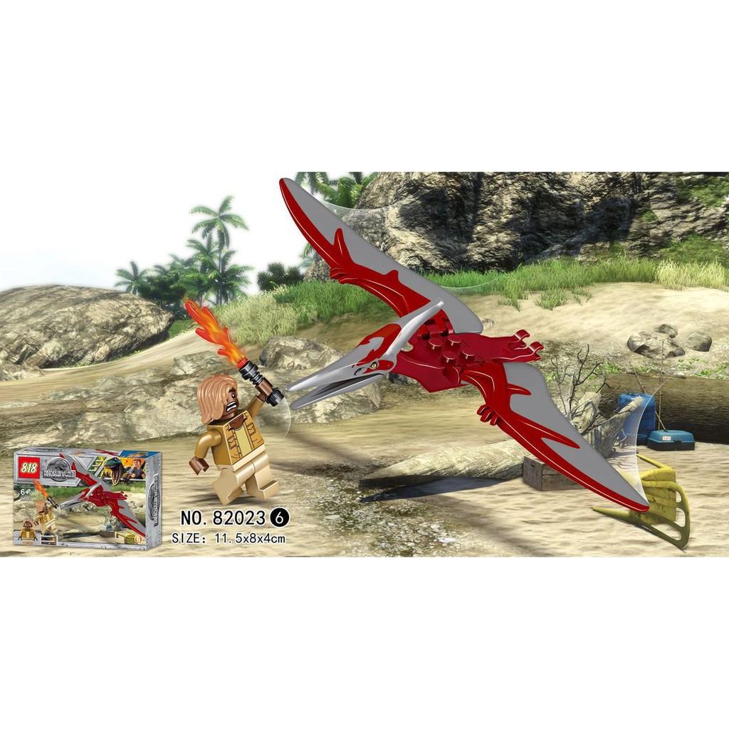 Đồ chơi lắp ráp công viên khủng long 8 hộp 82023