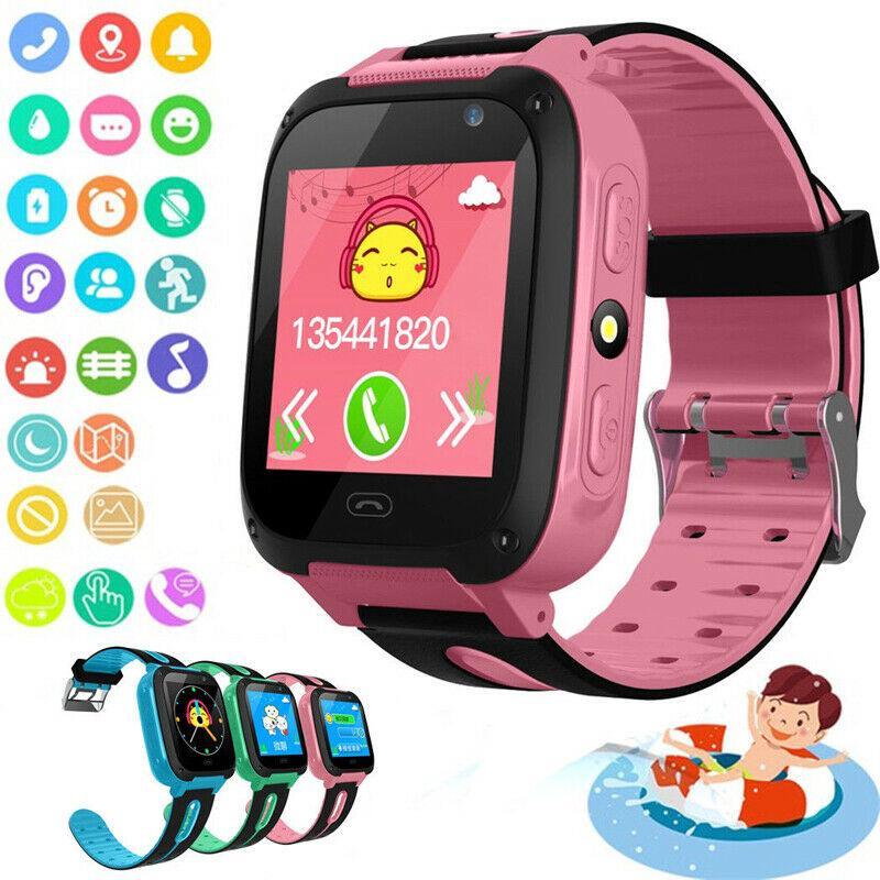 Hỗ trợ tiếng việt Đồng hồ thông minh cho trẻ em kết nối GPS màn hình cảm ứng tiện dụng