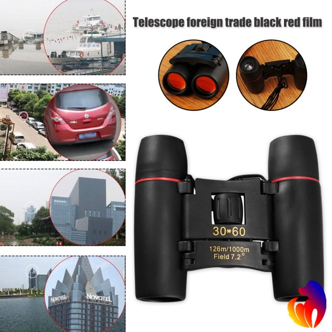 Mini Professional Zoom 30×60 HD Vision Binoculars Telescope Glasses for Hunting Concert Outdoor