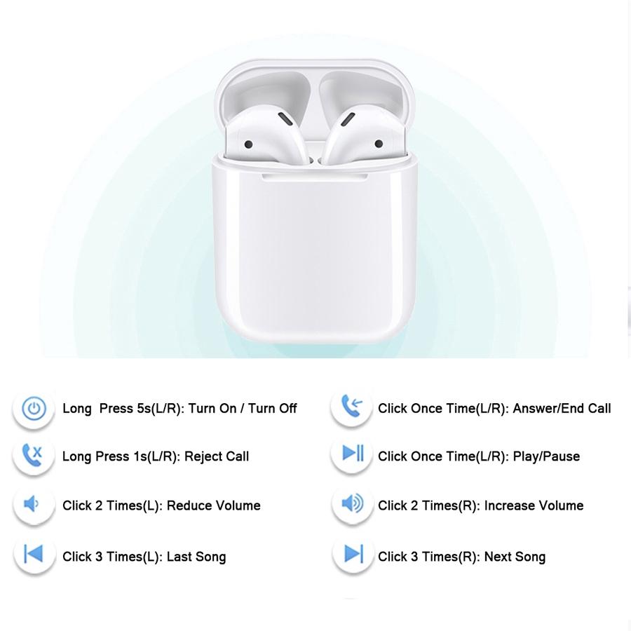 Tai nghe bluetooth không dây thể thao i12 TWS cho Iphone/Android