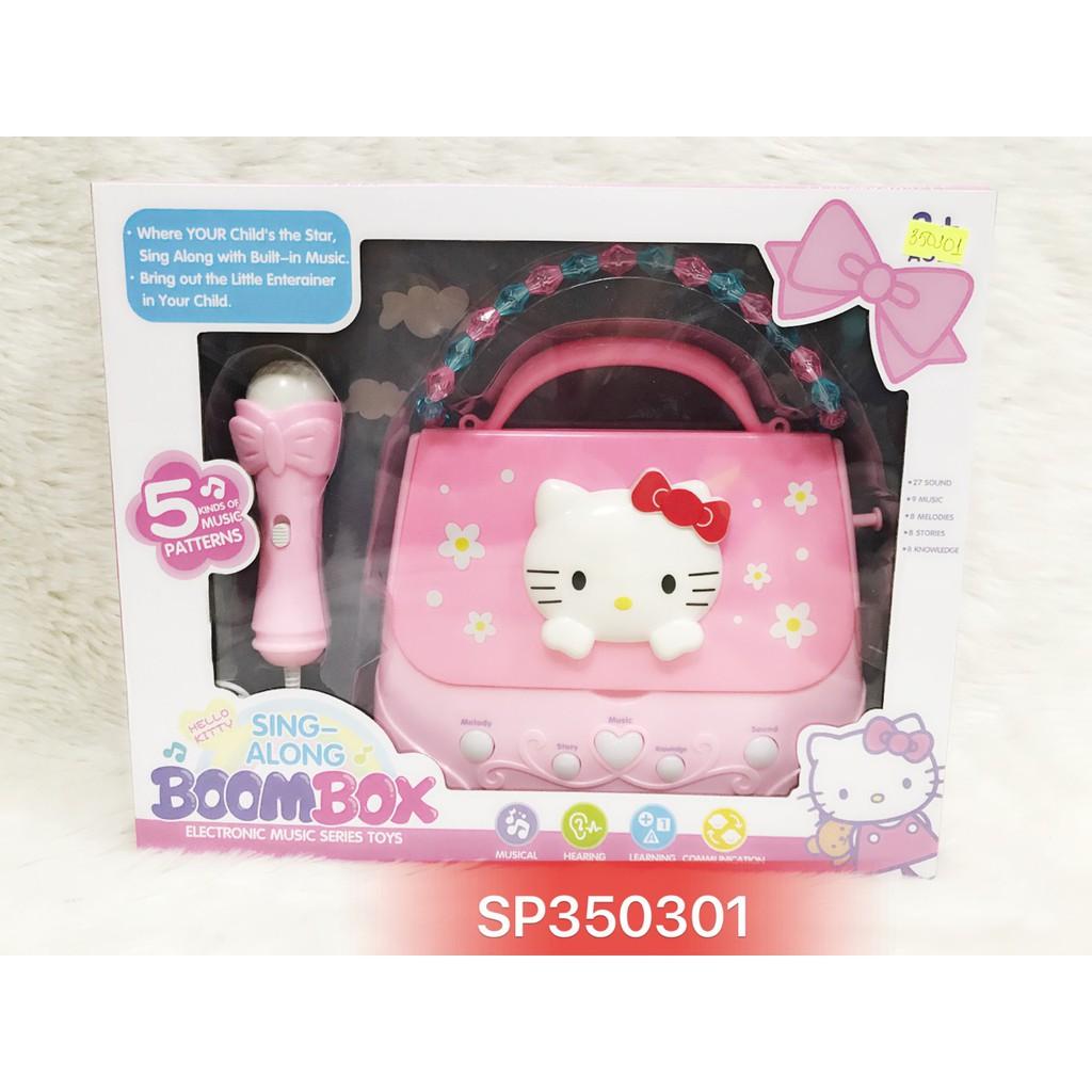 Hộp túi xách đàn mèo kitty + micro pin nhạc mp3 6801ED