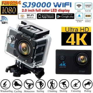 TENTA SJ9000 Action Camera 4K Ultra HD WiFi 1080P/30fps 2.0inch LTPS 170° Wide Angle Lens 30m Diving Waterproof DV Portable Outdoor Sports Camera