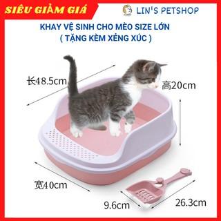 FREESHIP [sale toàn shop upto 70%] Khay vệ sinh cho thú cưng Size LỚN- tặng kèm xẻng thumbnail