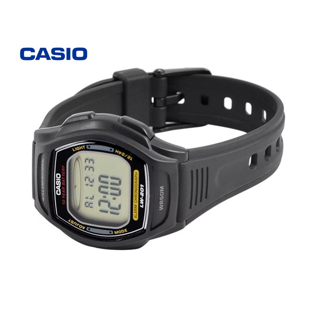 Đồng hồ nữ Casio LW-201-1AVDF (đen) chính hãng - Bảo hành 1 năm, Thay pin miễn phí