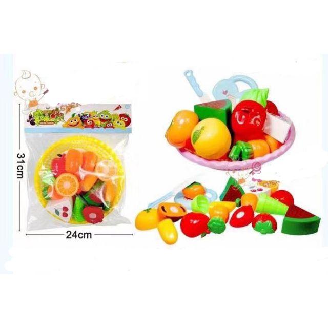 Rổ đồ chơi thái hoa quả nhựa cao cấp 2018