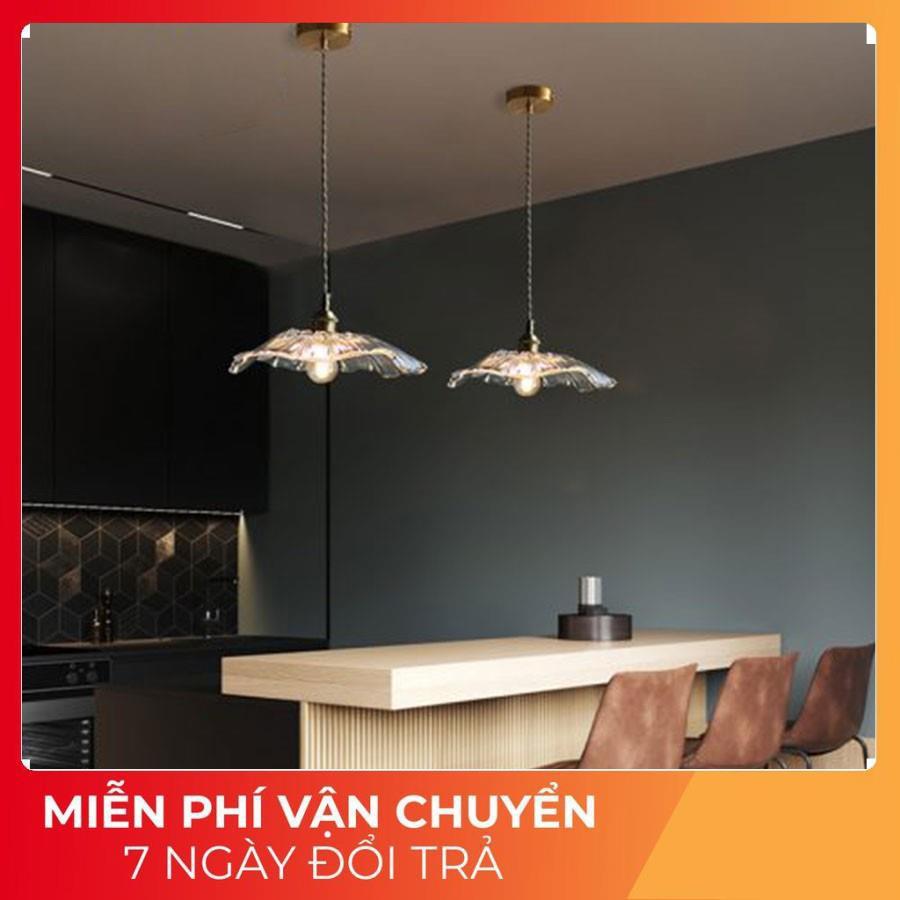 Đèn thả trần trang trí phòng ăn phòng khách , đèn thả trần đơn hình hoa cúc T15