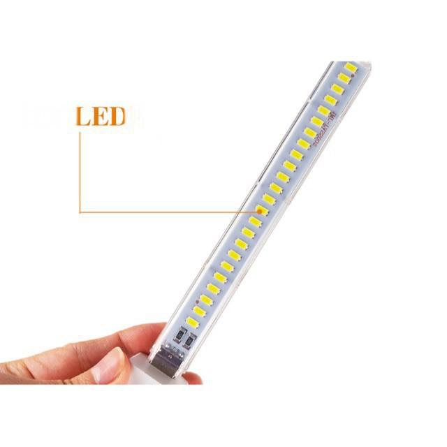 Thanh đèn LED mini 8 bóng, 24 bóng siêu sáng cổng cắm USB thích hợp để bàn học, đọc sách đầu giường sáng chuẩn tdhn1