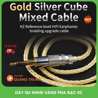 Dây tai nghe vàng pha bạc,nâng cấp chính hãng Kz,tăng cường chất lượng âm thanh thumbnail