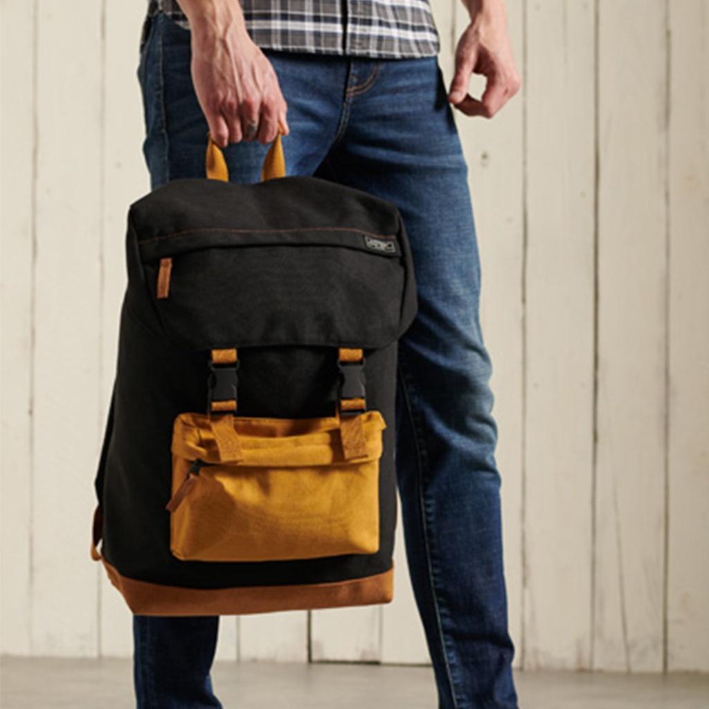 Ba lô nam SUPERDRY Toploader Backpack SDM911359A *SDAFB màu đen