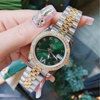 [fullbox + bảo hành 12th] Đồng hồ nữ Ro - mặt tròn viền đá sang trọng - bảo hành 12th donghovip thumbnail