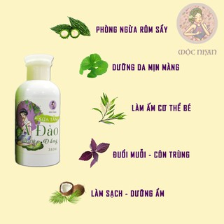 Sữa tắm cho bé, ngừa rôm sẩy Ả Đào Sữa tắm em bé mướp đắng thiên nhiên, thơm,MỘC NHAN 350ml handmade 4