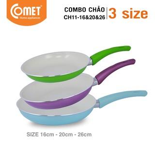 Combo 3 chảo chống dính Ceramic COMET - CH11-16&20&26 thumbnail