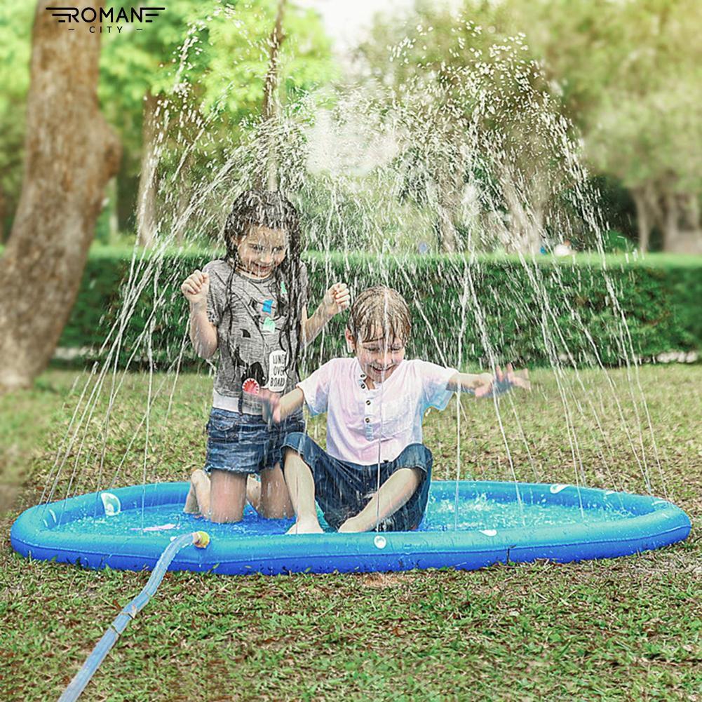Lovely Cartoon Kids Spray Water Play Mat Sprinkler Pad