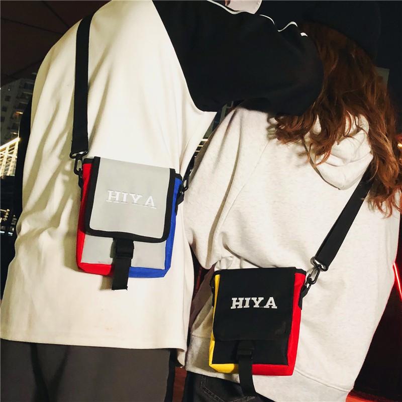 New street trend canvas bag men's small bag couple shoulder