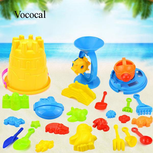 25x Kids Beach Sand Game Toys Shovels Rake Hourglass Bucket Kids Beach Role Play