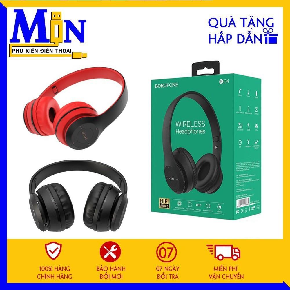 ✔CHÍNH HÃNG✔ Tai Nghe Chụp Tai Bluetooth Borofone B04 Bản Nâng Cấp Pro ✔Có Khe Cắm Thẻ Nhớ