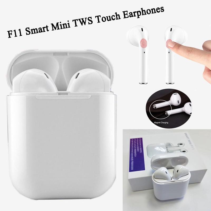 Tai nghe không dây F11 TWS kết nối bluetooth 4.2 và phụ kiện Pop up function