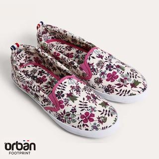 Giày slipon nữ Urban UL1605 in hoa hồng