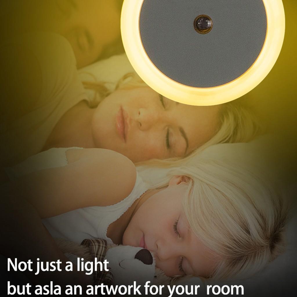 Đèn Led Tròn Cảm Biến Ánh Sáng Ấm Áp Gắn Tường Phòng Ngủ / Cầu Thang - Đèn  chùm