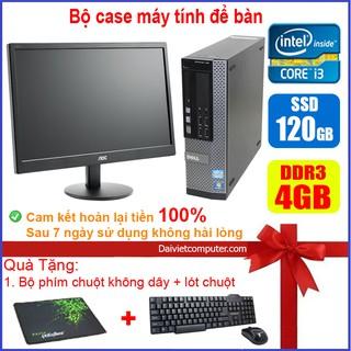 Bộ case máy tính để bàn Dell Optipex 790/990/7010 CPU Core i7 / i5 / i3 / Ram 4GB / SSD 120GB / 240G + Màn hình 19 inch