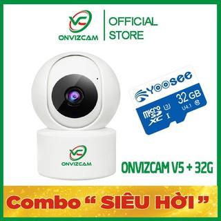 [TRỌN BỘ V5 + 32G]Camera wifi ONVIZCAM V5 thiết bị thông minh giá gốc chính hãng