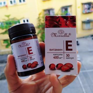 Vitamin E đỏ Nga hàm lượng 400mg chống lão hóa, làm đẹp da, cải thiện nội tiết tố
