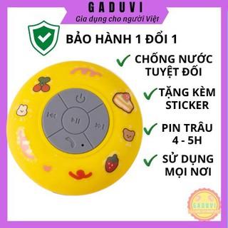 Loa Bluetooth Mini Chống Nước Gắn Tường Không Dây Giá Rẻ Tặng Kèm Sticker GADUVI (BẢO HÀNH 1 ĐỔI 1)