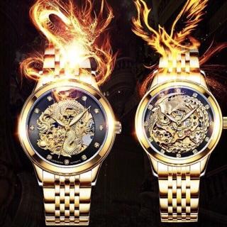 Siêu phẩm đồng hồ cặp đôi Laogeshi dây thép chính hãng thumbnail