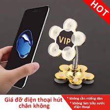 Giá đỡ điện thoại hút chân không VIP, chân kệ điện thoại xoay 360 độ