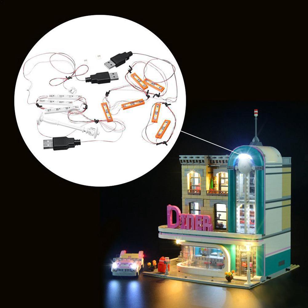 Kids Led Portable ABS USB Block Decor Lightweight Building Light Kit For Lego