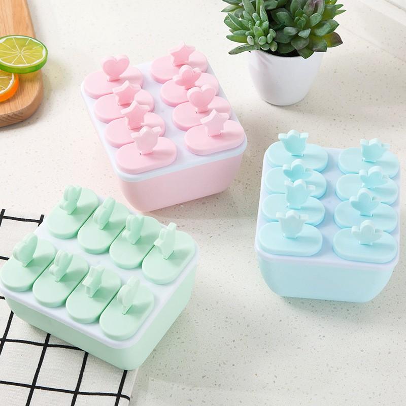 Bộ khuôn làm kem 8 ngăn | Shopee Việt Nam