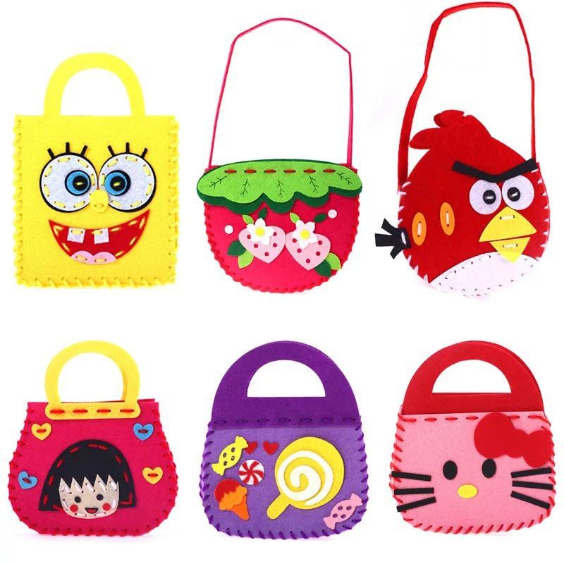 Túi xách tự làm HDY chất liệu vải không dệt cho bé trai và gái