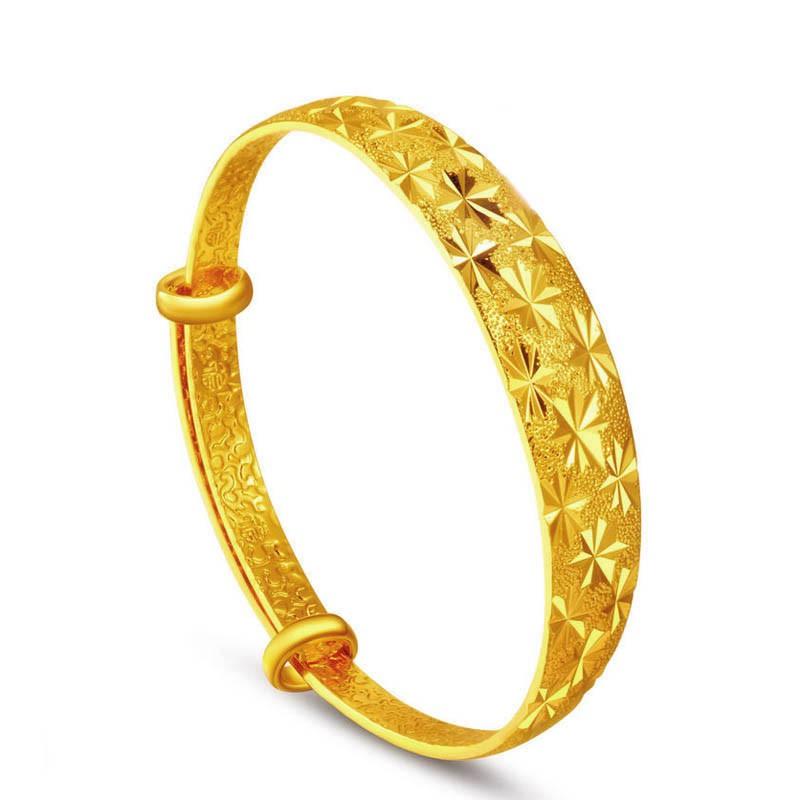 Fashion Women Shining Star Wide Adjustable Bangle Alloy Bracelet Jewelry Gifts