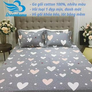 """Ga giường và 2 vỏ gối cotton 100% đủ size nệm đơn 1m2, 1m4, 1m6, 1m8, 2mx2m2 đẹp, giá rẻ - Dreamhome giá chỉ còn <strong class=""""price"""">17.900.000.000đ</strong>"""