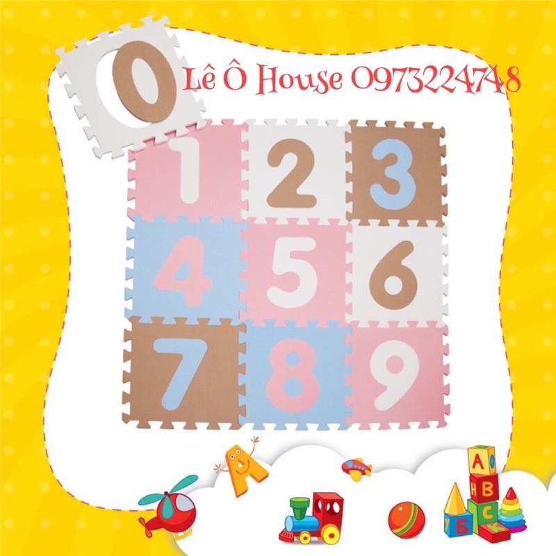 Thảm xốp Ghép miếng Smile Puzzle chữ số