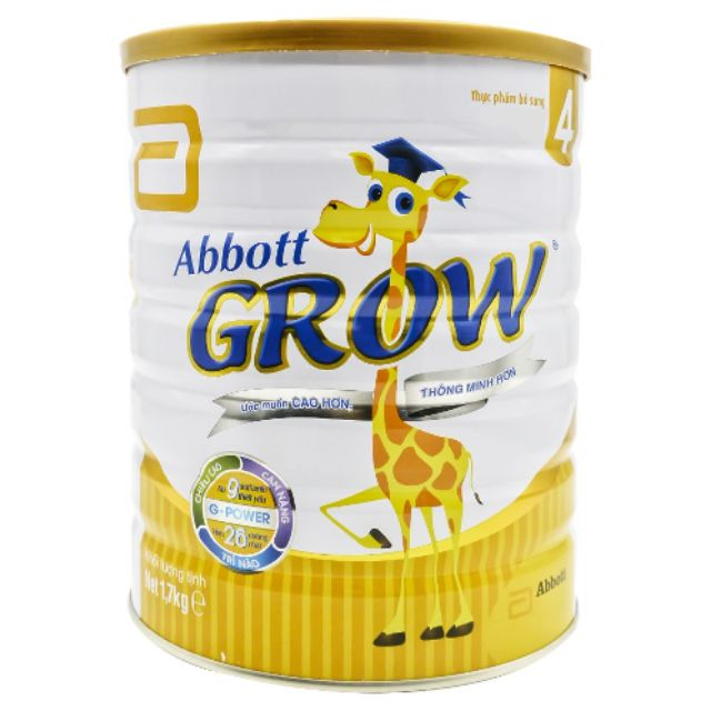 SỮA BỘT ABBOTT GROW 4 900G cho bé 2 tuổi ( Hàng chính hãng )