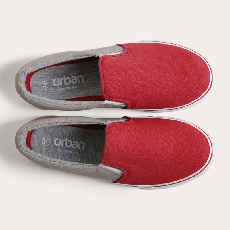 Giày slipon nữ Urban UL1705 đỏ ghi