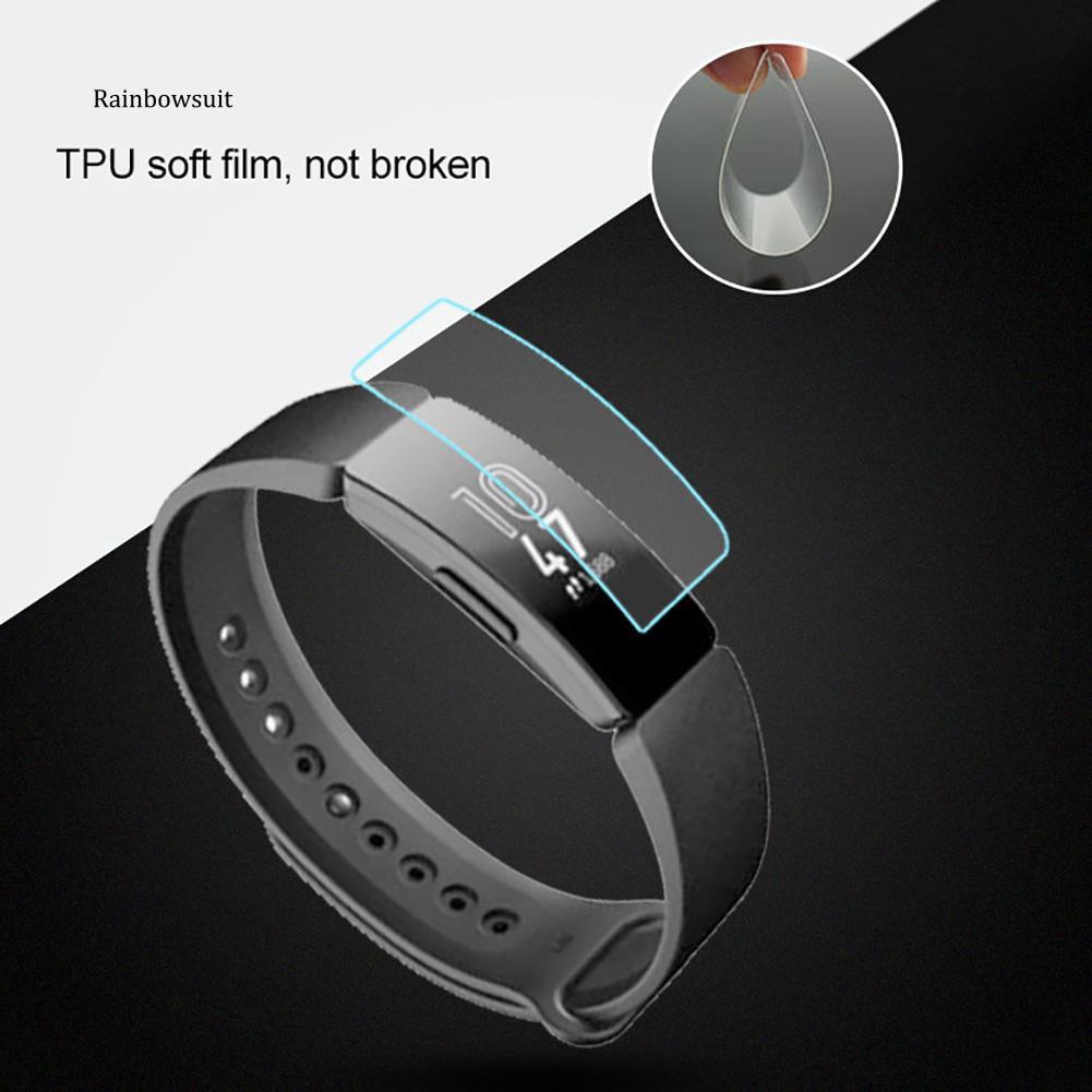 Set 1 / 2 Miếng Dán Tpu Bảo Vệ Màn Hình Cho Fitbit Inspire Hr / Fitbit Inspire
