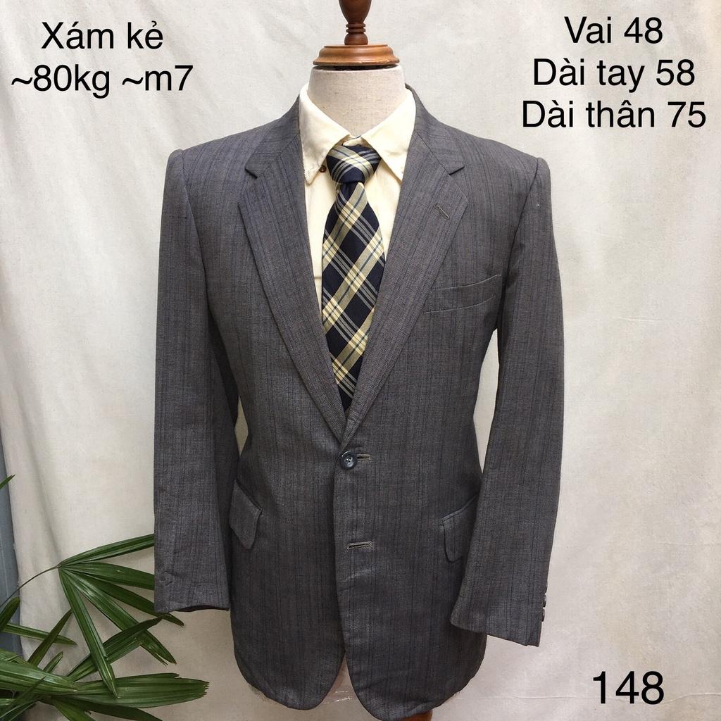 Mặc gì đẹp: Xinh xinh với (32 mẫu) Áo vest / blazer nam may đo sẵn xuất Hàn chất bóng họa tiết kẻ dọc dự tiệc hàng