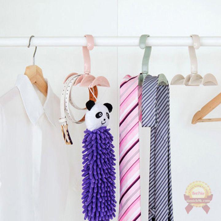 Móc treo quần áo túi xách cà vạt xoay tròn 360 độ – Giá để phơi phụ kiện thắt lưng trang sức đa năng F784SP2