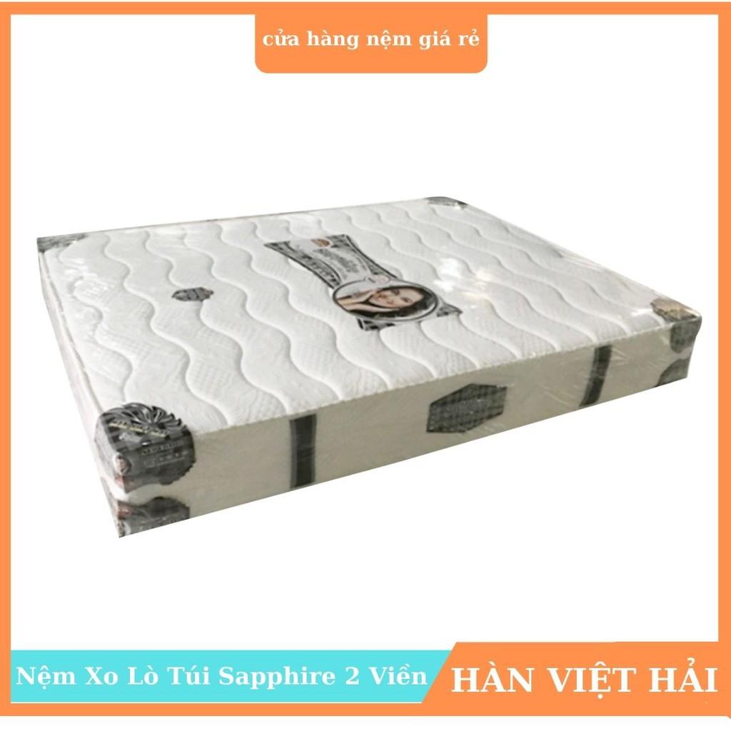 Nệm lò xo Túi Sapphire 2 Viền Cao Cấp, 100x200x27cm - 180x200x27cm, Hàng chính hãng, Bảo hành: 12 năm