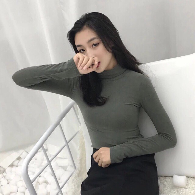 áo thun nữ 💖FREESHIP💖 Giảm 20K Khi Nhập [DOBO20K1] Áo Giữ Nhiệt THUN LẠNH Cổ 3 Phân | BigBuy360