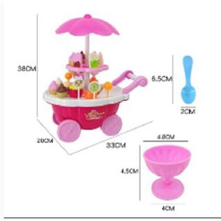 [ƯU ĐÃI KHỦNG] đồ chơi đáng yêu cho bé – Đồ chơi xe đẩy kem có nhạc có đèn cho bé