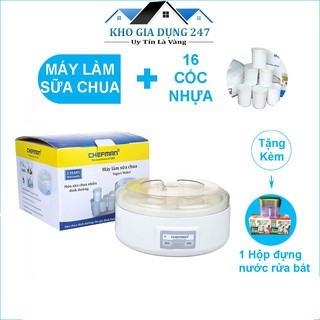 Máy làm sữa chua Chefman Cao Cấp ❣️(16 cốc nhựa) , HÀNG CHÍNH HÃNG , BẢO HÀNH 1 NĂM