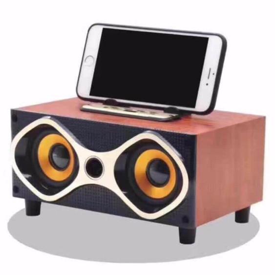 [Freeship] Loa Bluetooth Speaker Nghe Hay Tích Hợp Đế Đỡ Điện Thoại